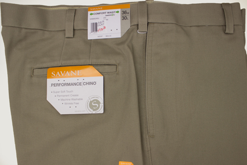 Savane Trousers Flat Front