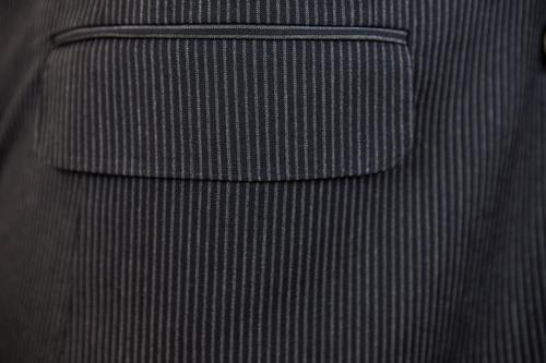 Antonio Cardinni Suit Black Pinstripe