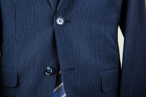 Antonio Cardinni Suit Buttons Blue Pinstripe Landscape