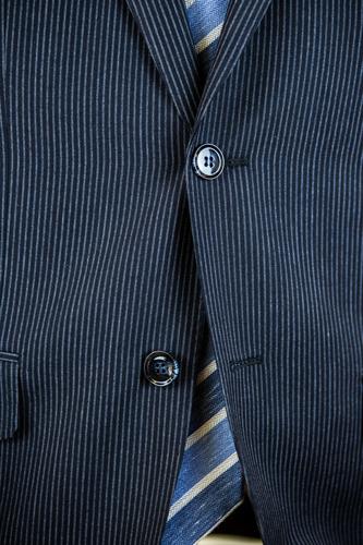 Antonio Cardinni Suit Buttons Blue Pinstripe