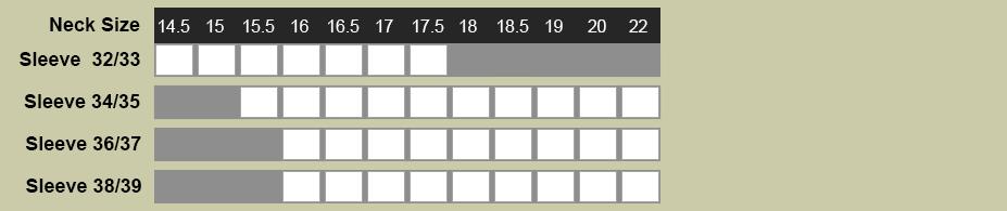 Enro Damon Shirt Size Chart